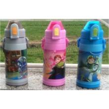 600ml Kids Plastic Water Bottle, Wholesale BPA Free Sports Water Bottle with Strap