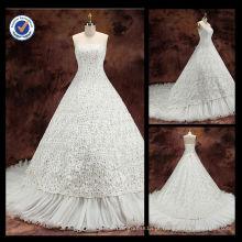 WA00077 atacado elegante laço sweetheart vestido de casamento de diamante dispersivo 2014