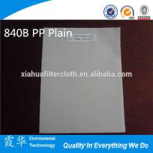 840B Paño de filtro de tela plana PP para agua alcalina