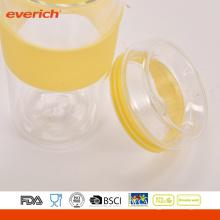 Verano BPA libre de doble pared de vidrio de ciclismo 300 ml Copa de té de vidrio