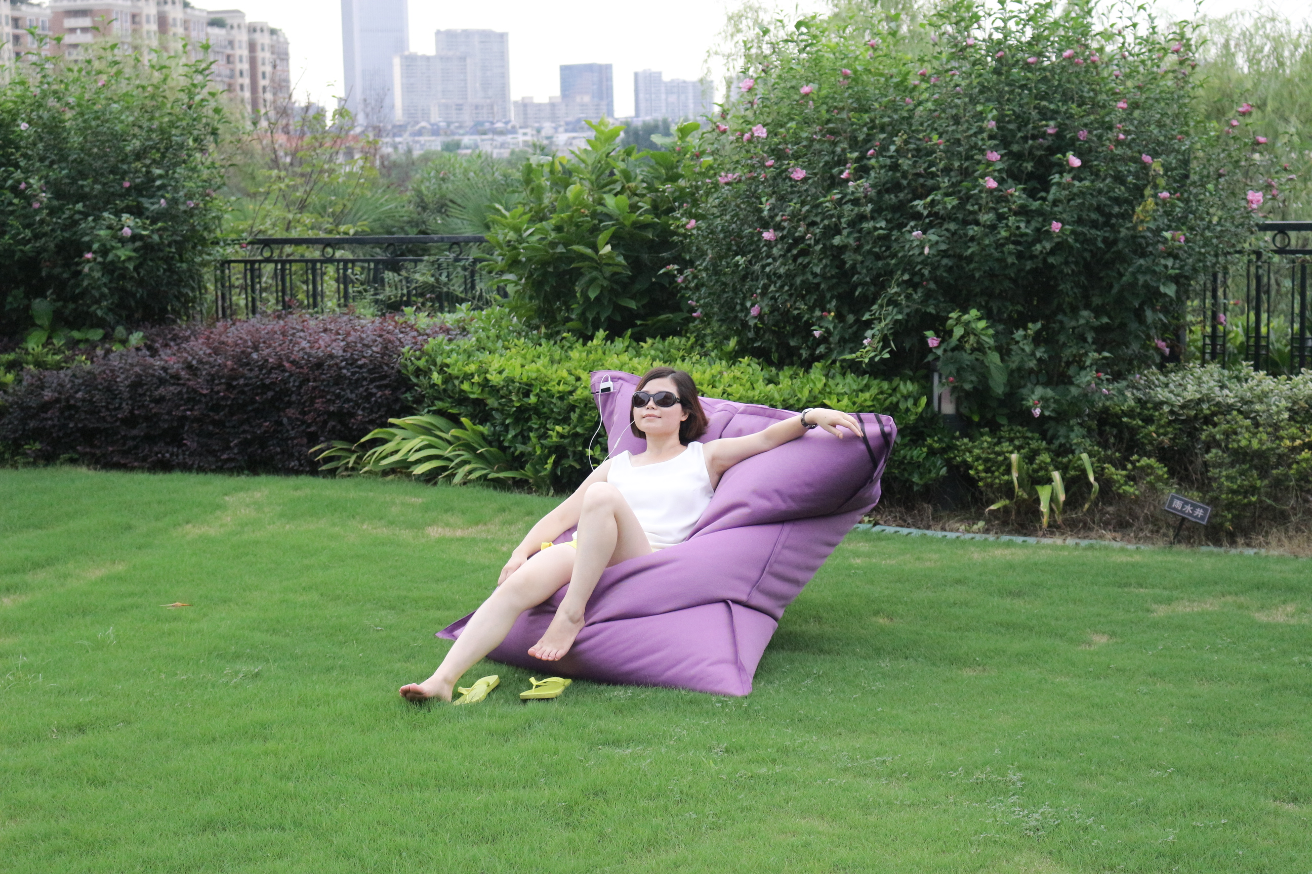 New design large rectangle bean bag outdoor