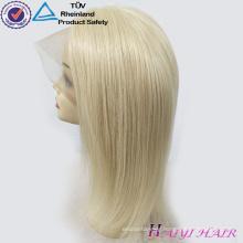 613# Blonde Color Virgin Brazilian Human Hair Long Blonde Full Lace Wig