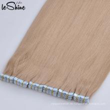 hochwertige 100 echte indische remy haar, großhandel 7a grade doppelt gezeichnet band haarverlängerungen