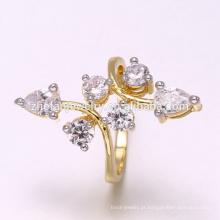 2018 diamantes dois tons chapeamento preço anéis no paquistão para atacado