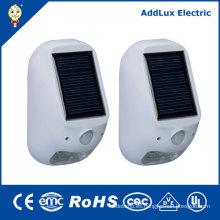 Lámpara de energía solar blanca caliente al aire libre de 1W SMD LED