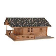 1/12 scale Lake house in wooden