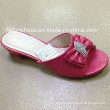 Novo estilo de boa qualidade moda feminina sapatos sandálias pu (jh160523-2)