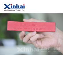 Лист красного натурального латекса и резиновой подкладкой