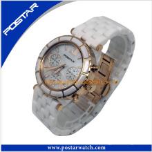 Attraktive runde Digitaluhr Charming Watch mit Steinen