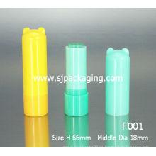Tubo de bálsamo de labios de dibujos animados Niño Cosméticos de embalaje de plástico reciclado labios bálsamo tubos