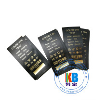 Printed black satin fabric clothing labels for bags
