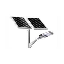 Iluminação exterior de Pólo da lâmpada de painel solar da rua da luz 100W do sistema de iluminação das energias solares
