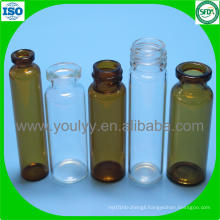 Clear and Amber Tubular Glass Vial