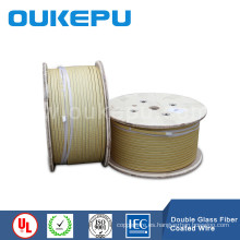Cable conductor de aluminio recubierto de fibra de vidrio, fibra de vidrio plana cobre alambre, alambre de cobre rectangular de fibra de vidrio