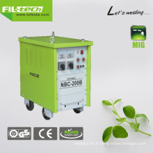 Soudeuse MIG à courant continu gaz / gaz sans fil pour une utilisation étendue (NBC-200B / 250B / 270B / 350B)