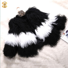 2016 Elegante Tipo Tíbet Ovejas Abrigo Corto Abrigo Real Piel De Cordero Real