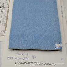 Venda quente cor azul tecido de inverno casaco de lã de alpaca mistura de tecido macio sentimento da mão