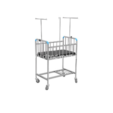 Stainless Steel  New Born Baby  Bed With Or Without Pad