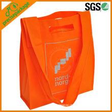 Melhor venda de moda reciclado ecológico longo punho pp não tecidos sacos de compras
