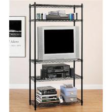 Black Powder Revestimento Rack de armazenamento de metal Wire Home (LD7535180A4E)