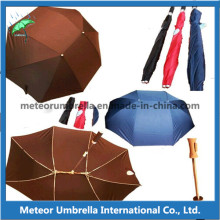 Easy Take Foldable Compact Lover Umbrella with Polyester Pongee Fabric Canopy