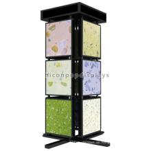 Qualität versichert freistehende Metall 3-Tier 4-Wege-Marmor Badezimmer und Küche Bodenbelag Fliesen Display