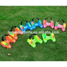 3 lighted PU wheels kids toys roller skates wholesale