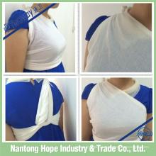 Bandagem triangular de gaze de algodão 100% mais tamanho