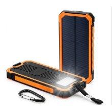 High Capacity Super Slim 8000mAh Solar Power Bank
