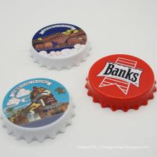 Сувенир магнитный пластиковый круглый открывалка для бутылок для домашнего украшения