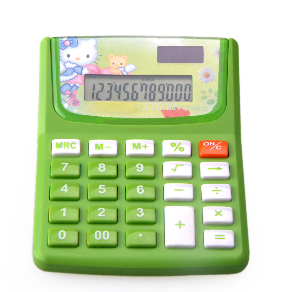 12 Digit Business Desktop Cartoon Calculator