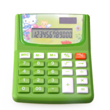 Cartoon Calculatrice de bureau Calculatrice de tables de fonctions