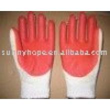 7 gauge roter Gummi Handschuh für den Bau