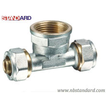 Brass Fittings for Pex-Al-Pex Pipe/Brass Tee Fitting/ Female Tee Fitting