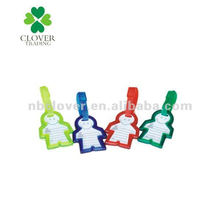 people shape pvc Luggage tag