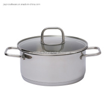 Edelstahl-Suppentopf zum Kochen im Restaurant