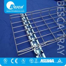 Bandeja de cabo perfurada elétrica de aço inoxidável do engranzamento de fio SS316 SS304