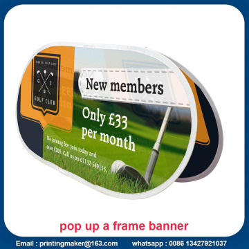 Bean Horizontal Pop Up A-Frame Banner dengan Percetakan