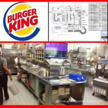Shinelong-Ausrüstung Schnellimbiss-Burger-Restaurant-Küchen-Ausrüstung in China
