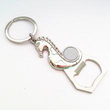 Abrelatas de botella de metal de logotipo personalizado recuerdo con keyholder (f5027)