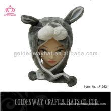 Chapéu plano de orelha com padrão de urso à venda