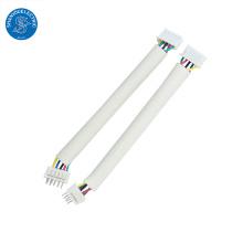 Arnés de cableado de paso personalizado de conector JST de 2.54 mm y cable plano de cinta