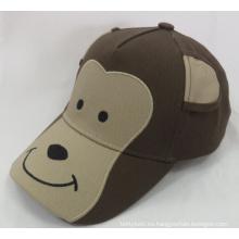Monkey Animal Kids Cap Gorra de béisbol tejida (WB-080152)