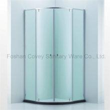 Australian Standard Quadrant Duschkabine / Runde Badezimmer Duschkabine mit doppelten Pivot Türen (CVP-048)