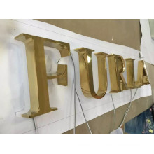 Outdoor Advertising Built up Letter Face Lit Illuminated Channel Letters