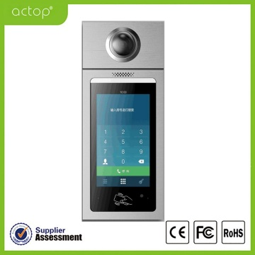 Apartemen Door Touchscreen IP Intercom Station