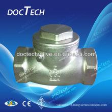"""DN32 1 1/4"""" 1000WOG SS304 check válvula, válvula de retenção de aço inoxidável, rosca BSP"""