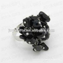 Enrouler des anneaux avec de la pierre noire Black Chip