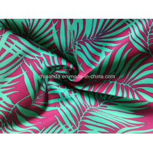 Purple Bamboo Leaf Printing Fabric for Swimwear (HD1401096)