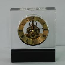 Relógio de cristal especial misturado com cores com botão de ajuste de tempo